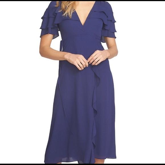 Slate Wrap Dress